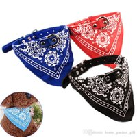 Wholesale dog collar leather fashion online - Fashion Cat Dog Collar Bandana Pet Scarf Tie Adjustable Leather Neckerchief For Small Dog Pets Accessories Collars
