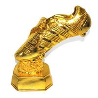 botas de resina al por mayor-Grandes zapatos dorados Premio Europeo de Arranque de Oro Recuerdos de fútbol Trofeo de fútbol Copa del mundo de madera Resina