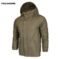 Wholesale Out Door Coat Men - Wholesale- 2016 Men New Jacket Spring Autumn Hooded Jacket Casual Sunscreen Out door Waterproof Windbreaker Men Thin Jacket Coat Outerwear