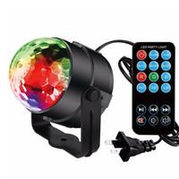 top ses efektleri toptan satış-Sahne ışıkları DJ ışıkları Disko Parti Topu ışıkları, Blingco Dönen LED Sihirli ışıklar 3 W 7-Color Ses Aktif Sahne Strobe Etkisi