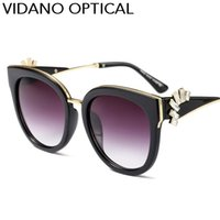 Vidano Optical Brand New Designer Óculos de sol para homens e mulheres Luxury Vintage Fashion Glasses Crystal Diamond Premium Eyewear