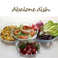 Toughened Glass Plate Dish DishwareTempered Glass Food Container Transparent Household Forno De Microondas Especial Dish Food Storage Container