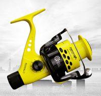 Wholesale Drag Reels - Free Shipping 12BB Spinning Fishing Reel Rear Drag Plastic Spool CTR 2000 7000 YMS Plastic Spool