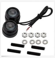 Wholesale Eagle Eyes Flashing Lights - 40*30mm 3W Car Lights Eagle Eye Strobe Flash LED LED Daytime Running Light DRL Fog Lights