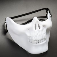 Wholesale Metal Skulls For Sale - Hot Sale Skull Mask Outdoor Army Games Metal Masquerade Fancy Dress Party Cosplay Costume Scary Masks For Halloween Party