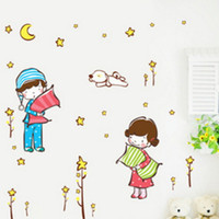 Wholesale Chinese 3d Posters - Wall Stickers 3D Kindergarten Adhesive Decals Home Decor Decorative Poster for Kids Rooms To Wall Decoration Removable with Decals