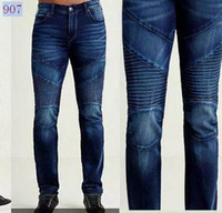 Wholesale Denim Jean S For Man - 2017New Men's True Jeans High Quality Trousers Denim Designer Dark Solid color Straight tr Jean For Men robin Pants Free Shipping