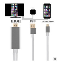 Wholesale HDMI HDTV TV Adapter USB Cable P for iPhone S S PLUS S PLUS7 plus HDMI Cable with retail box