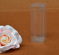 Wholesale Wholesale Pen Display Box - Qi Size:2.5*2.5*7.5cm Clear Small Gift Packing Box For Pen PVC Display Packaging Box For Craft Jewelry Cosmetic 50pcs lot