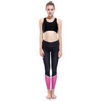Wholesale Wholesale Black Leggings Designs - Wholesale- 2017 New LOVE SPARK New Design Pink Grey Patchwork Women Yuga Joggings Workout Leggings S To 3XL Breathable Fitness Pants