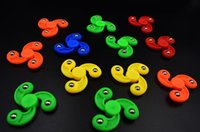 Wholesale New Novelty Random Color Plastic Tri Fidget Fingertip Gyro Spiral Hand Spinner Development Flexible Decompression Toy Gifts