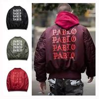 Wholesale Life Jackets Pockets - Jackets I feel like Paul Pablo Kanye West The Life Of Pablo Kanye MA1 Bomber Jackets Brand Thick Warm Bombers Coats Men