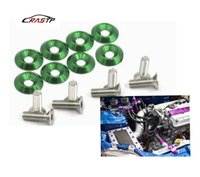 RASTP - alta Quaility 10PCS Green JDM Billet in alluminio parafina / rondella paraurti / bussola motore Bay Dress Up Kit RS-QRF002
