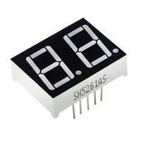 Wholesale digital segment - Wholesale- 0.56inch 2bit Common Cathode Digital Tube Red LED Digit Display 7 Segment 0.5inch 0.5 0.56 Inch 0.56'' 0.56in. Two 2 Bit