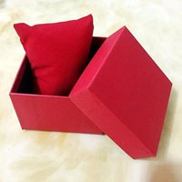 Wholesale Pillow Box Packaging - Fashion Watches boxes paper square Watch Box with Pillow 6 colors Gifts Boxes Case For Jewelry Box Watch Package Wristwatches Packing
