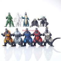 Wholesale Godzilla Models - New Arrival Set Of 10 New Godzilla Figures Anguirus,Godzilla Jr,10 Monster Dinosaur Toy Model