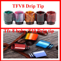 Wholesale Resin Babies - 2017 Hotsell TFV8 Baby Clearomizer Mouthpiece 510 Thread Epoxy Resin drip tip mouthpiecefor TFV8 baby Cloud Beast 510 Atomizer