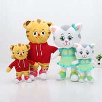 Wholesale Daniel Tiger Neighborhood - EMS Hot Plush Daniel Tiger's Neighborhood Daniel Tiger Katerina cat Plush toy Doll kids toys 20-30cm