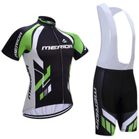 Wholesale Green Merida - Free shipping 2017 Merida cycling jersey 3D gel pad bike shorts Ropa Ciclismo quick dry team bicycling wear mens summer bicycle Maillot Suit