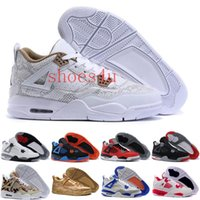 Wholesale Cheap Rhinestones Laces - [With Box] Free Shipping Cheap New Air Retro 4 IV DB Doernbecher Sneaker Mens Basketball Shoes For men sports running shoe Size 41-47