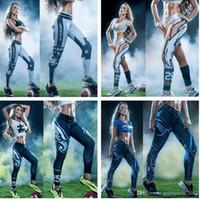 Wholesale Tie Dye Space Leggings - Sexy Novelty 3D printed fashion Women leggings space galaxy leggins tie dye fitness pant Yoga Stretch Tights Sport Rugby Leggings b488