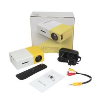 Wholesale Digital Projector Led - YG300 LED Portable Projector 400-600LM 3.5mm Audio 320 x 240 Pixels YG-300 HDMI USB Mini Projector Home Media Player