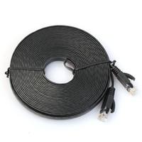 cabo de rede plana cat6 venda por atacado-Atacado-Confiável Plano Cat6 Rede Ethernet Patch Cable Modem Router RJ45 para rede LAN 550 MHz desempenho do cabo