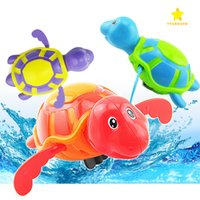 Wholesale Toys For Kids Crawling - 2017 Hot New Wind Up Water Diver Bath Toy Swimming Floating Turtle Swim and Crawl Bathtub Wind Up Toys Pool Bath for Kids