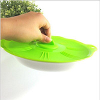 Wholesale New Cookware Parts Silicone Lids green and gary color can choose Reuseable Super Suction Food Covers