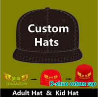 Wholesale Wholesale Fitted Kids Baseball Caps - Logo Custom Baseball Caps Hip Hop Snapback Adult Kids Size Embroidery Printing Logo Fitted Full Complete Closed Hat Factory