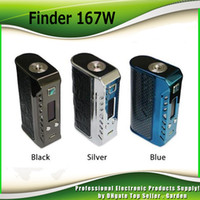 Original Think Vape Finder 167W TC Box MOD avec ThinkVape 167 avec DNA250 Chip Dual 18650 Batterie E-eig Mods 100% Authentique DHL Free 2256002