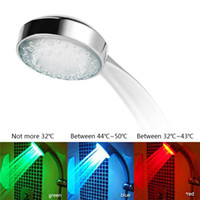 ingrosso rubinetti a colori-7 Color Changing LED colorato Soffione doccia LED Water Shower Light Light Glow LED Faucet Light
