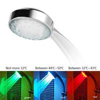 ledli renk değişen duş aydınlatması toptan satış-7 Renk Değiştirme Renkli LED Duş başlığı LED Su Duş Başlığı Işık Glow LED Musluk Işık