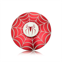 Wholesale Cool Red and black Metal Alloy round spider man Hand SpinnerS Fidget Toys Finger Fingertips Gyro Round shape Spinners Hand Spinner toys