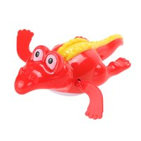 1pc Baby Swim Toy Crocodile Baby Bath Natation Toy Crocodile Wind Up Clockwork Play Baby Accessoire de bain