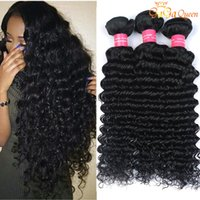 Wholesale Soft Wave Brazilian Hair Weave - 4 Bundles Brazilian Deep Curly Virgin Hair Unprocessed Brazilian Human Hair Extensions Mink Brazilain Virgin Hair Deep Wave Very Soft