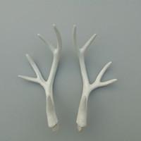 Wholesale Horn Pack - Zilin 17cm white faux deer horn artificial deer antlers a set(a pack) DIY material creative decor