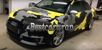 Wholesale black 3d carbon sticker resale online - 2017 New Yellow Grey black Camo Vinyl Car Wrap Film With Air Release Camouflage Truck wraps covering size x30m Roll x98ft