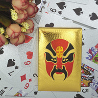 Chinese Peking Opera Poke Plástico Jogando Gold Foil Cards Artes Presentes Jogos de mesa 24K Gold-Foil Plated Playing Cards Poker Multi-style