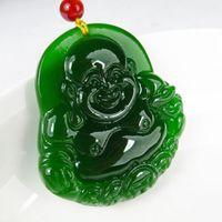 Wholesale Tian Necklace - Xinjiang Hetian jade jade Buddha Pendant money and Tian Maitreya Tatu pendant lucky Green Peace