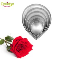 Wholesale Tulip Shaped Mold - Wholesale- 2-6 pcs lot Flower Shape Cookie Mold Rose Lily Tulip Motabakohana Flower Cake Decoration Mould Tools Cookie Cutter Mold
