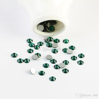 Wholesale Emerald Nail Art - Beyond Better - ss3 -ss30 Flat Back Crystal Emerald 3d Nail Art crystal decorations Non Hot Fix Glue on rhinestones for nails stone bead