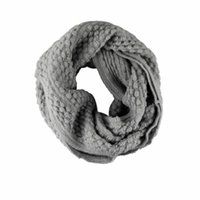 Wholesale Circle Wool - Wholesale-Delicate New Fashion Warm Knit Neck Circle Wool Novelty Elegant Accessories Scarves Wool Scarf nor5902