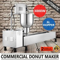 Wholesale Donut Maker Mold - AUTOMATIC DONUT MAKER MAKING MACHINE 3 SETS MOLD COMMERCIAL WIDER OIL TANK