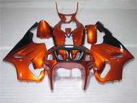 siyah kırmızı zx7r kaplama toptan satış-Sıcak satış motosiklet Fairing kiti Kawasaki Ninja ZX7R 96 97 98 99 00-03 için şarap kırmızı siyah marangozluk seti ZX7R 1996-2003 OY14