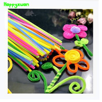 Wholesale Handicrafts Children - 8packs(800pcs) Multicolour Chenille Stems Pipe Cleaners Handmade Diy Art &Craft Material kid Creativity handicraft toys children
