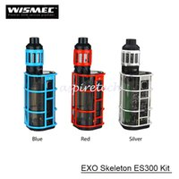 Original Wismec EXO Skeleton ES300 TC Kit с 300 Вт ES200 Box Mod 2.8 мл KAGE Tank WT-H2 0.4ohm WT-V3 0.17ohm Head E-cigarette Kits