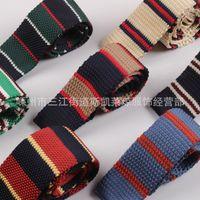 Wholesale Men S Silk Skinny Ties - Popular flat tie, men's knitted tie, casual performance, photo taking, wedding tie wholesale