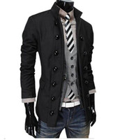 Wholesale Winter Jackets United States - Europe and the United States the new men's winter cultivate one's morality fashion personality double-breasted suit jacket M-2XL