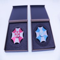 Wholesale Evil Toys - Gift Wooden Box Resident Evil Protect umbrella Protection Finger Spinner Fidget metal EDC Hand Spinner Toy For Autism ADHD 3 to 4 minutes